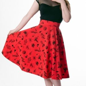 Rock Steady Red Atomic Skirt